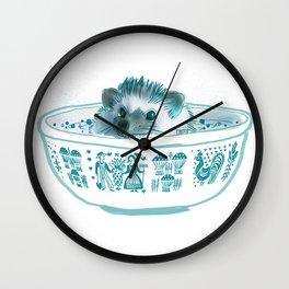 Hedgehog Hot Tub #2 Wall Clock