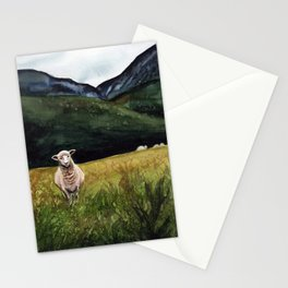 Sheep on a Hill Stationery Cards