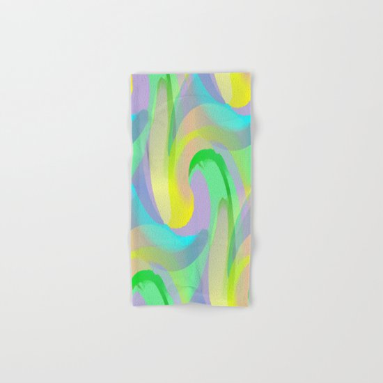 Soft Rainbow Abstract - Painterly Hand & Bath Towel