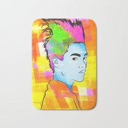 Portrait Head Study, Color Bath Mat