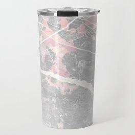 Pastel Pink & Grey Marble - Ombre Travel Mug
