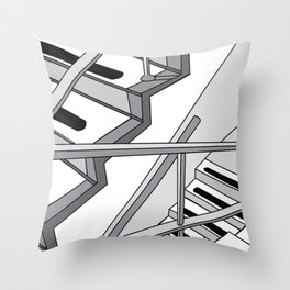 STAIRWELL Abstract Art Throw Pillow