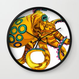 Blue-Ringed Octopus Wall Clock
