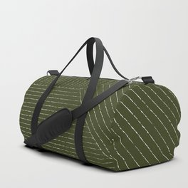Lines (Olive Green) Duffle Bag