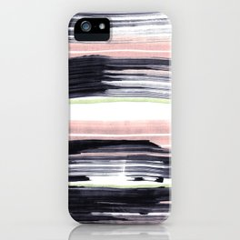 Black stripe iPhone Case