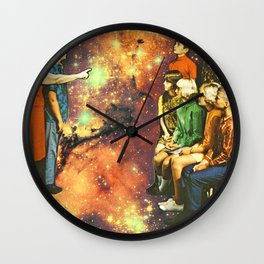 Orange dimension Wall Clock