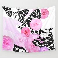 blush Wall Tapestries featuring Camellia Blush by Vikki Salmela