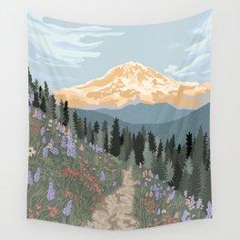 Mount Rainier National Park Wall Tapestry