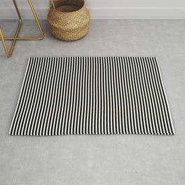Simple Black & White Licorice Cabana Stripe Rug