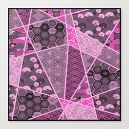 Abstract Artwork Pink Patterns Canvas Print