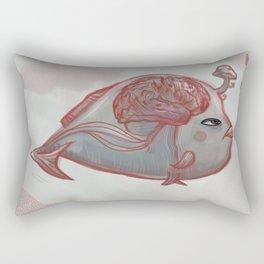 Brain Fish Rectangular Pillow