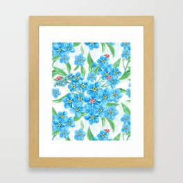 Forget me not seamless floral pattern Framed Art Print