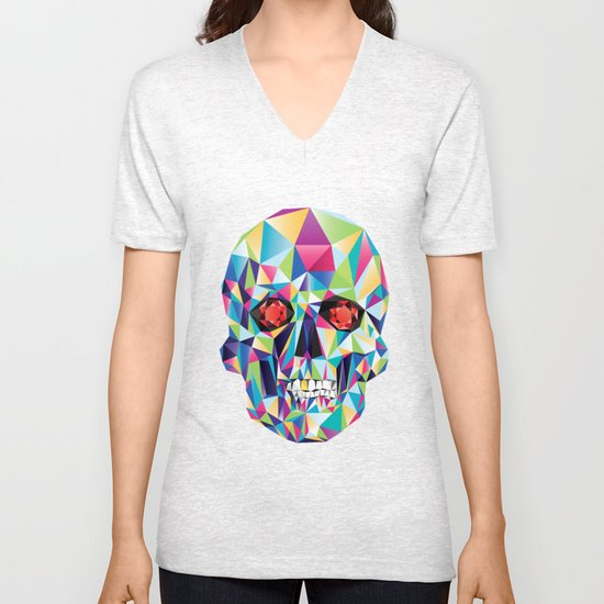 Geometric Candy Skull Unisex V-Neck