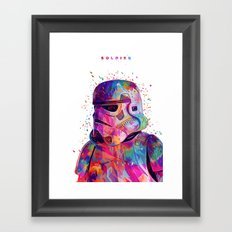 Soldier White Framed Art Print
