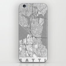 Seattle Map Line iPhone & iPod Skin