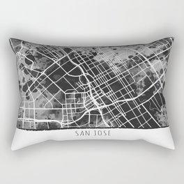 San Jose City Map Rectangular Pillow