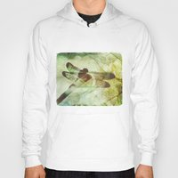 dragonfly Hoodies featuring Dragonfly by SpaceFrogDesigns