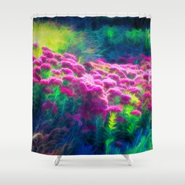Glowing Floral Dream Shower Curtain