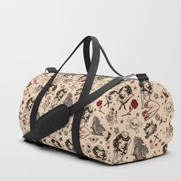 Suzy Sailor Pattern Duffle Bag