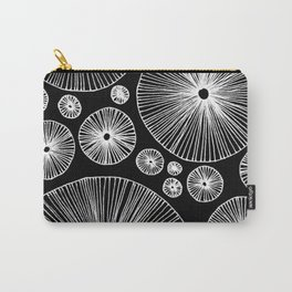 Reverse Under the Mushroom Circle Graphic Pattern Carry-All Pouch