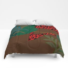 Jungle Fever // Woman, Feminine, Plants, Plant Lady, Nature, Green Comforters