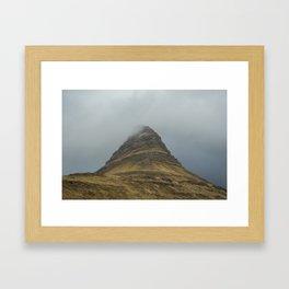 Kirkjufell in Fog Framed Art Print