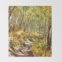 Through the Woods Throw Blanket
