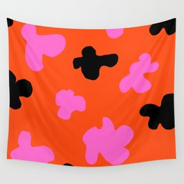 Grell 003 / A Dazzling 70's Pattern Of Black & Pink Spots Wall Tapestry