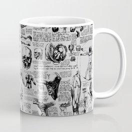 Da Vinci's Anatomy Sketchbook // Silver Coffee Mug