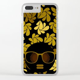 Afro Diva : Gold Clear iPhone Case