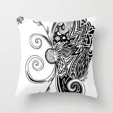 Spirit of Spring B&W Throw Pillow