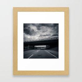Dark Was The Day Framed Art Print