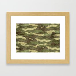Distressed Camouflage Framed Art Print