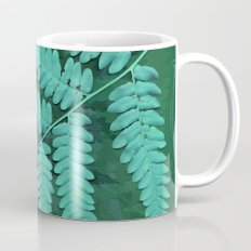 From the forest - turquoise on green Coffee Mug