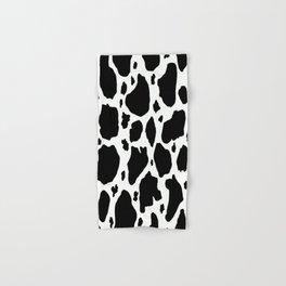 black and white animal print cow spots Hand & Bath Towel