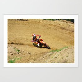 Turning Point Motocross Champion Race Art Print