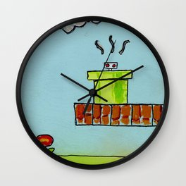 Hiding From the Nature of Things Wall Clock