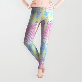 Melty Patterned Slime Leggings