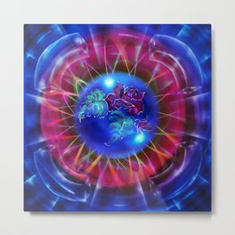 Abstract in perfection - Fertile Imagination Rose 2 Metal Print