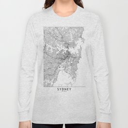 Sydney White Map Long Sleeve T-shirt