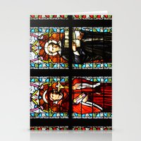 stained glass Stationery Cards featuring Stained glass by Marieken