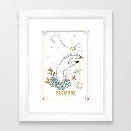 Scorpio Zodiac Series Framed Art Print