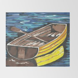 Boat Reflections Throw Blanket