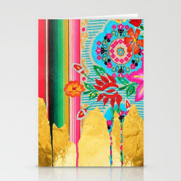 Gold Dipped Boho Serape Dream Stationery Cards