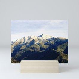 Ojai Valley With Snow Mini Art Print