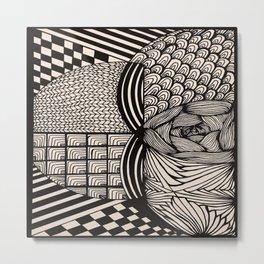 Zentangle #6 Metal Print