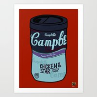 Art Print featuring Campbell's Remix Red by Raheem Nelson