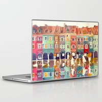 takmaj Laptop & iPad Skins featuring Evening in Poznań by takmaj