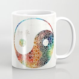 Yin And Yang - Colorful Peace - By Sharon Cummings Coffee Mug