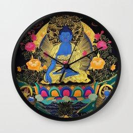 Buddha Medicine Thangka 1 Wall Clock
